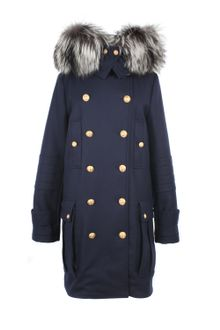 Alexander McQueen Virgin Wool Officer Coat - Lyst