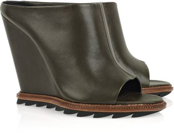 Camilla Skovgaard Leather Wedge Mules - Lyst