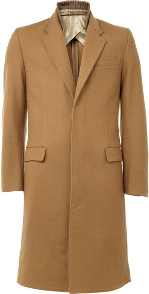 Acne Winston Woolblend Coat in Brown for Men - Lyst