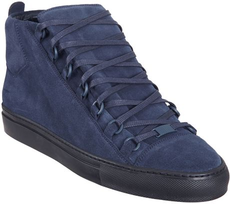 Balenciaga Arena Hightop Sneaker in Blue for Men (navy)