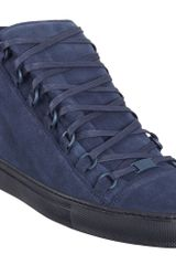 Balenciaga Arena Hightop Sneaker in Blue for Men (navy) - Lyst