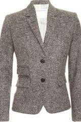 Black Fleece Tweed Jacket - Lyst