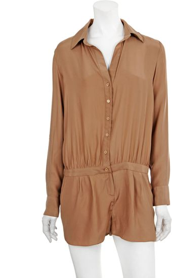 Haute Hippie Button-down Onesie - Lyst