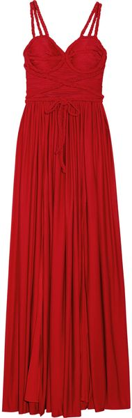 Rare Opulence Braid-embellished Satin-jersey Dress - Lyst