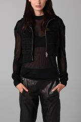 Alexander Wang Hooded Drape Sweater - Lyst