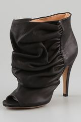 Maison Martin Margiela Open Toe Draped Booties - Lyst