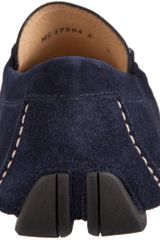 Ferragamo Suede Driver in Blue for Men (navy) - Lyst