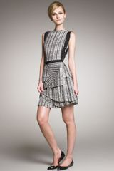 Bottega Veneta Layered Plisse Skirt Dress - Lyst