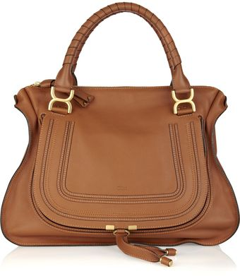 Chloé The Marcie Large Leather Tote - Lyst