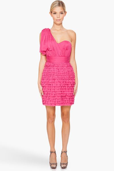 Matthew Williamson Shredded Chiffon Dress in Pink - Lyst