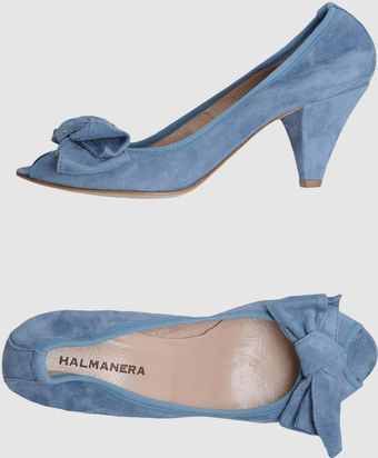 Halmanera Pumps with Open Toe - Lyst