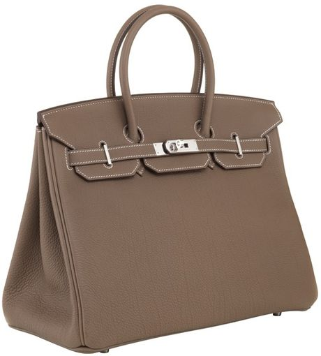 Hermes 35cm Birkin Etoupe Togo With Phw in Brown - Lyst
