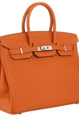 Hermes 35cm Birkin Orange Togo With Phw