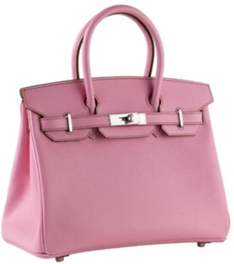 Hermès 30cm Birkin Epsom Rose With Phw in Pink (rose)