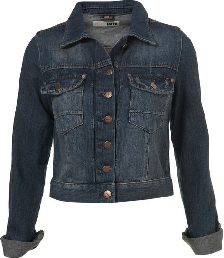 Topshop Denim Western Style Jacket in Blue (denim) - Lyst