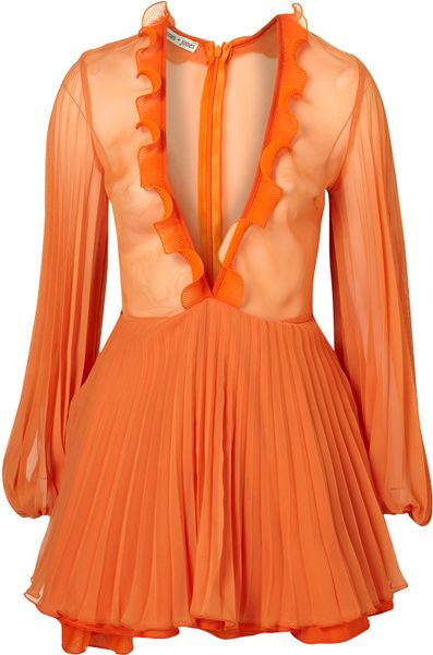 Topshop Sadie Dress By Jones and Jones** in Orange - Lyst