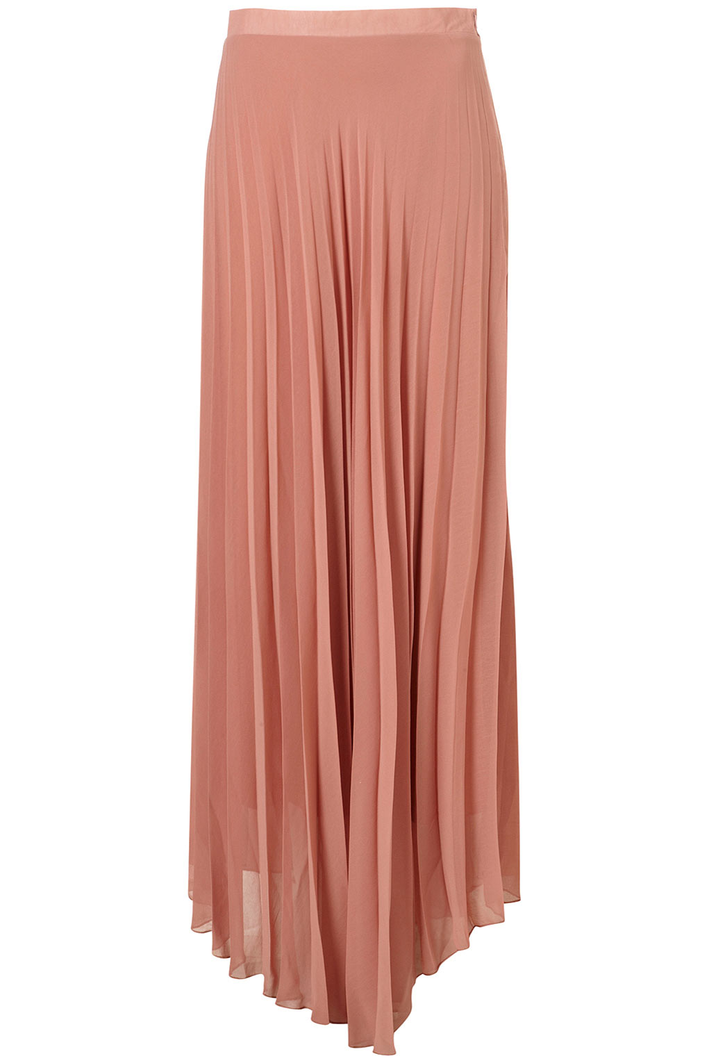 topshop pleat chiffon maxi skirt by in pink lyst