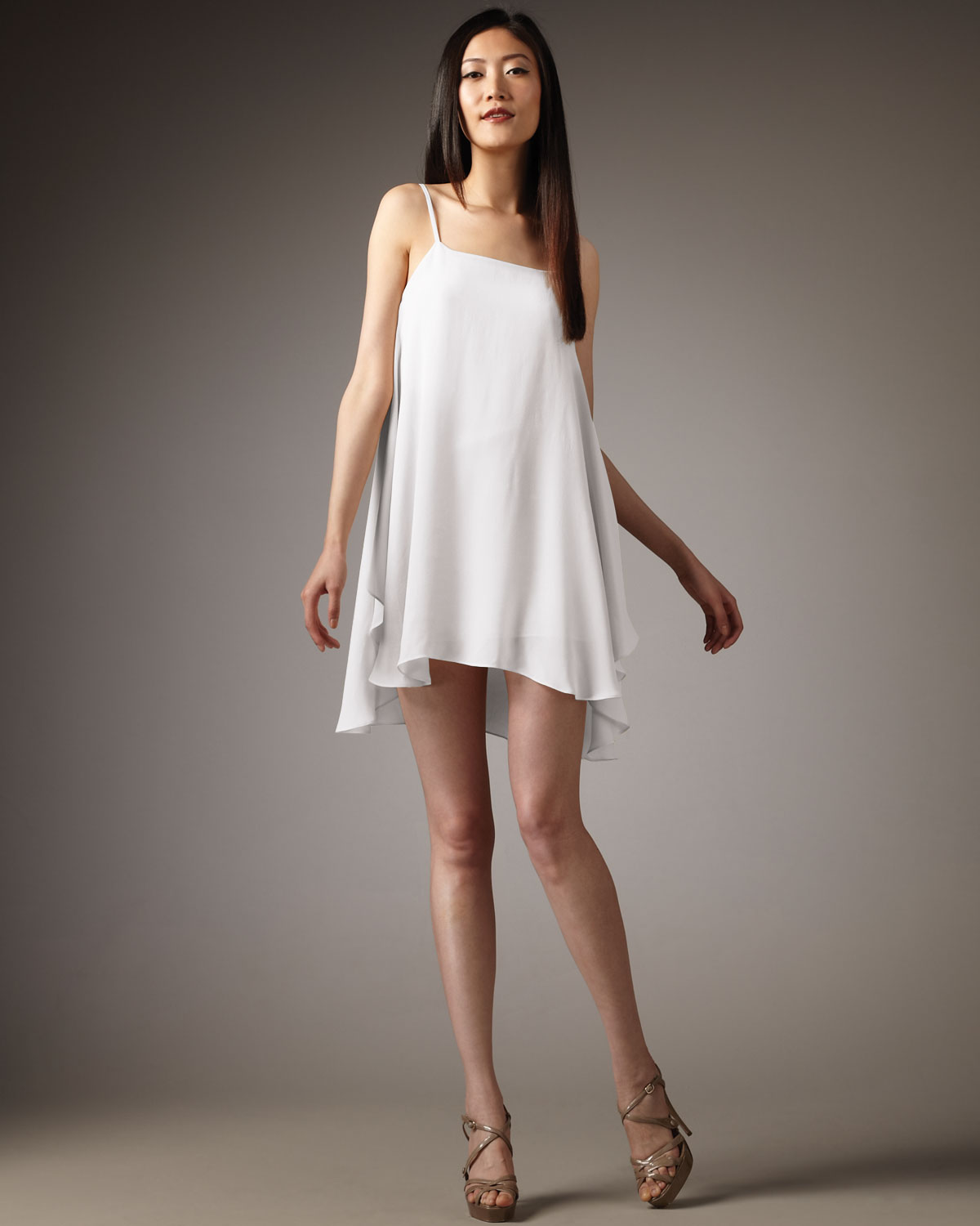 Lyst Alice Olivia Cammie Trapeze Dress In White