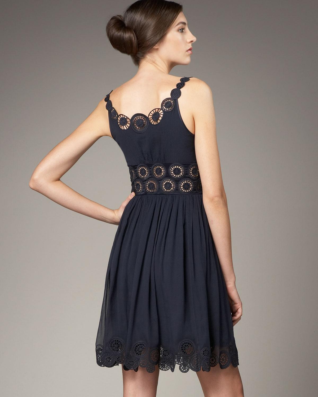 Catherine Malandrino Embroidered Dress