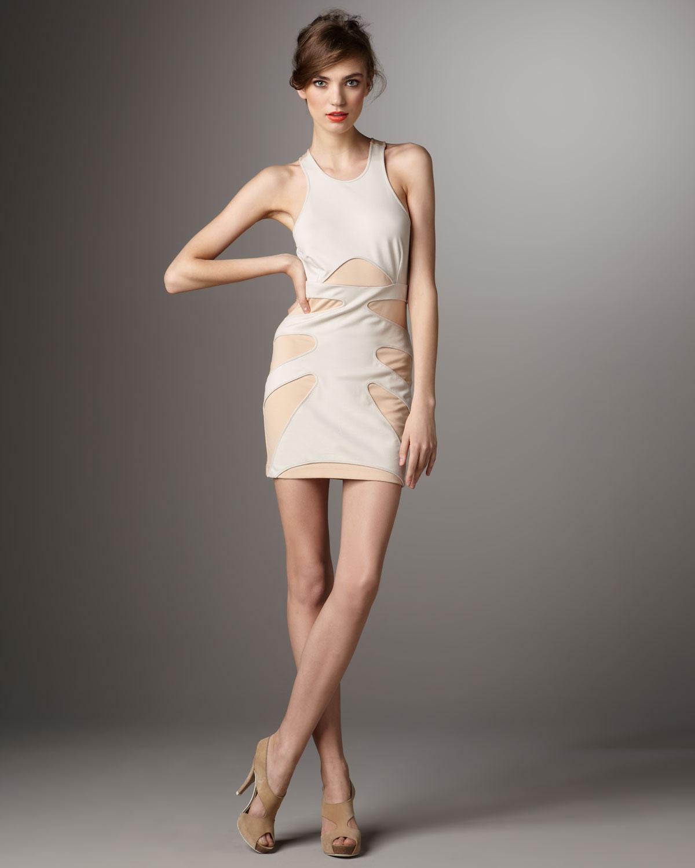 Torn Haley Skeleton Dress In White Lyst