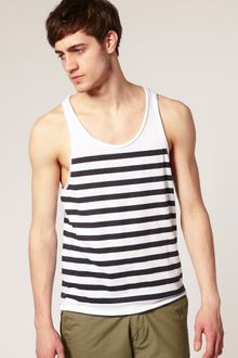 ASOS Collection Asos Stripe Racer Back Vest - Lyst