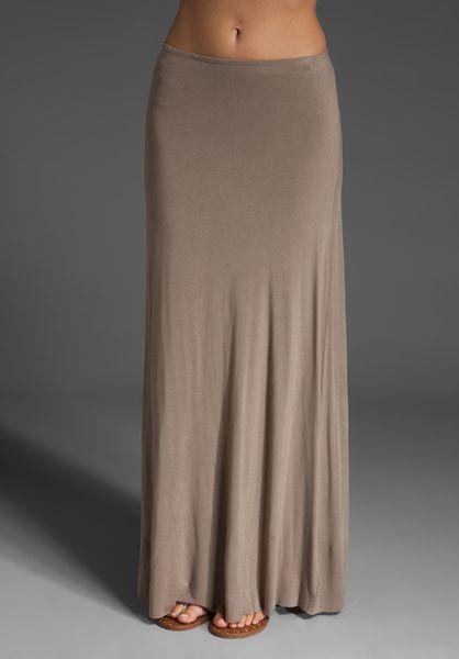 bailey 44 floor length a line skirt in beige lyst
