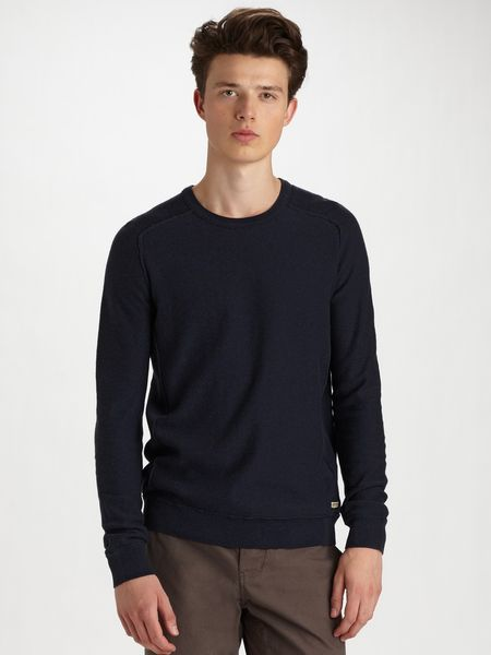 Converse Saddleshoulder Sweater in Blue for Men (ink) - Lyst