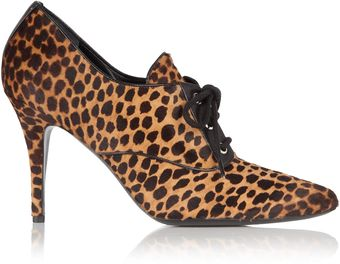 D&G Bella Ocelot Lace Up Shoe Boot - Lyst