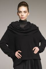 Donna Karan New York Draped Boxy Sweater - Lyst