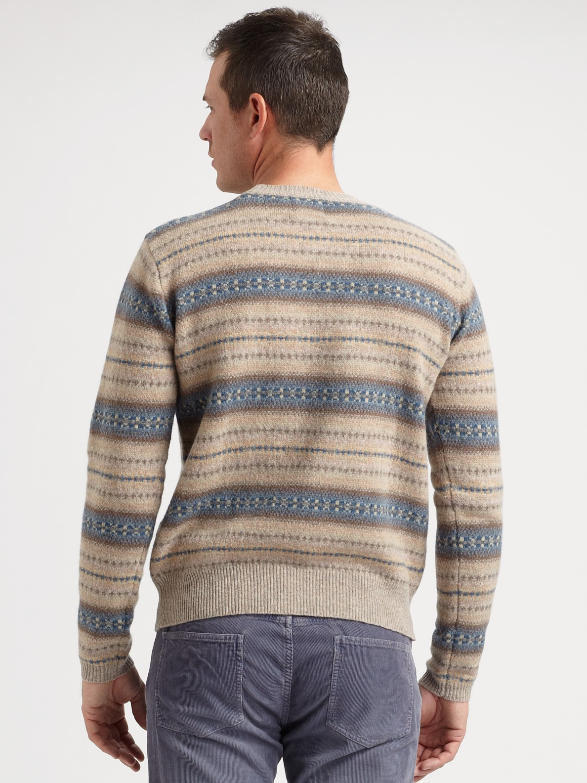Gant rugger Fair Isle Sweater in Brown for Men | Lyst