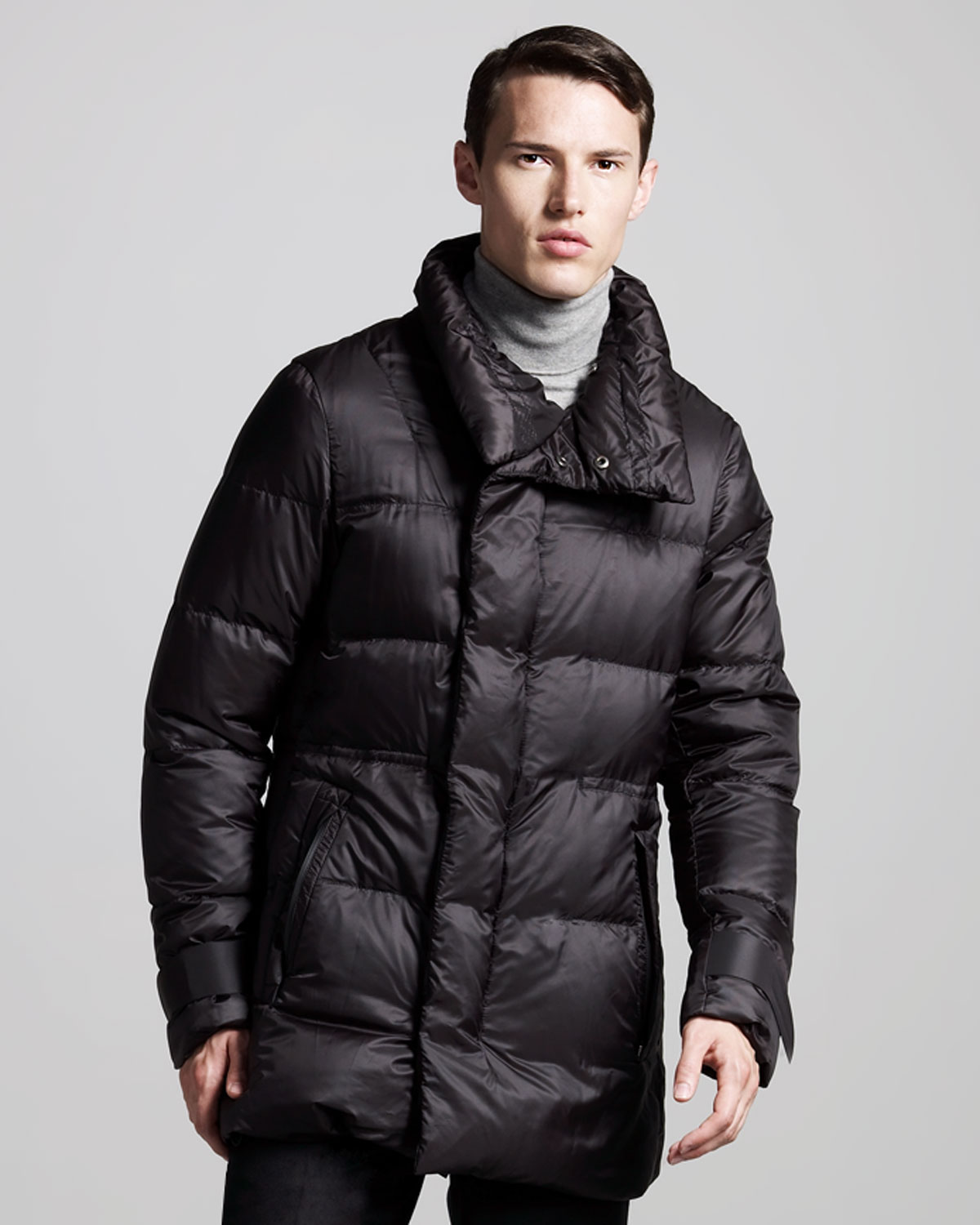 jil sander puffer coat in blue for men navy lyst. Black Bedroom Furniture Sets. Home Design Ideas
