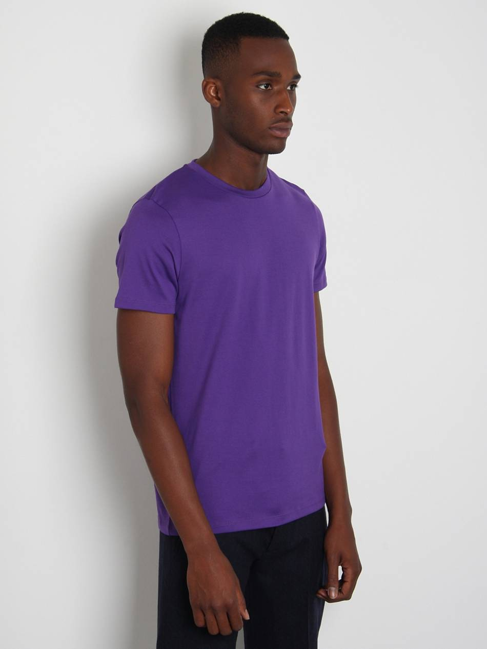 jil sander mens basic t shirt in purple for men lyst. Black Bedroom Furniture Sets. Home Design Ideas