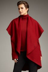 Lafayette 148 New York Draped Shawl-collar Coat - Lyst