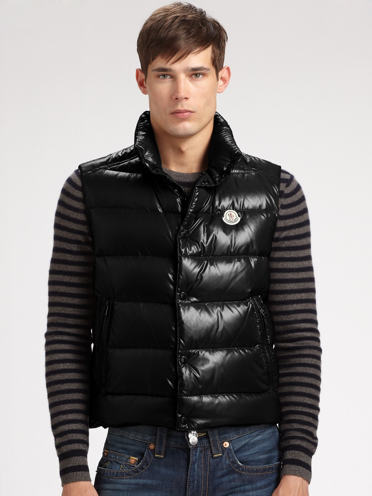 8e57dcc3151 ... coupon for lyst moncler tib gillet down vest in black for men 3117d  a6ac8