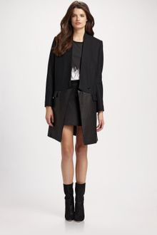 Neil Barrett Leather Panel Mini Skirt - Lyst
