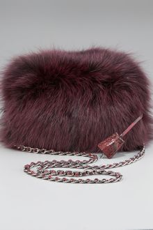 Prada Fox Fur Clutch - Lyst