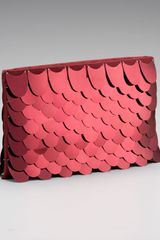 Prada Paillettes Scale Clutch - Lyst