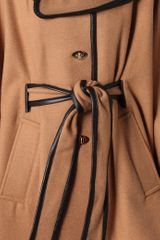 Rachel Zoe Ali Wrap Collar Cape in Brown (tan) - Lyst