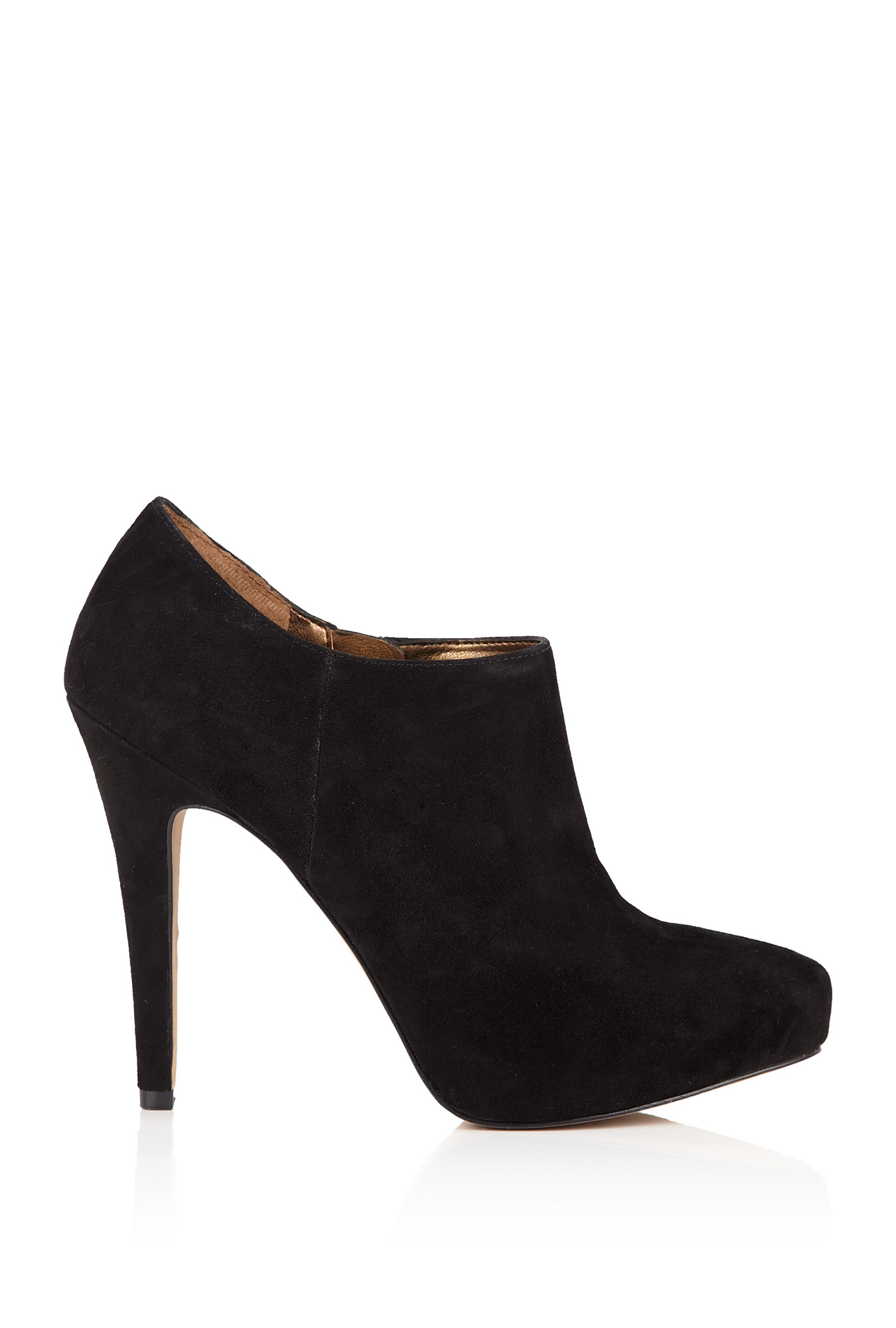 sam edelman petty suede ankle boots in black save 78 lyst