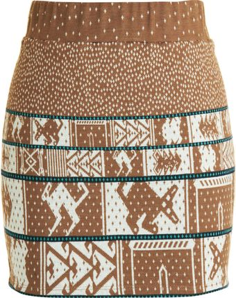 Suno Animal Print Skirt - Lyst