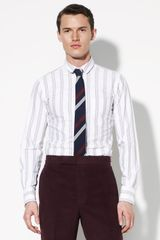 Thom Browne University-stripe Woven Shirt - Lyst