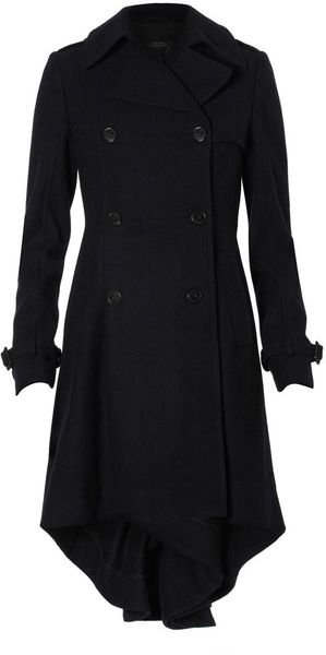 Allsaints Alpha Coat in Black - Lyst