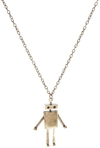 ASOS Collection Long Metal Robot Pendant Necklace - Lyst