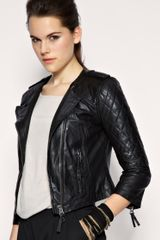 ASOS Collection Asos Collarless Quilted Leather Jacket