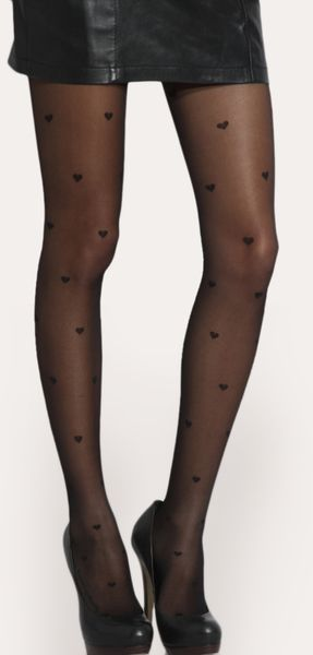 ASOS Collection Asos Heart Sheer Tights - Lyst