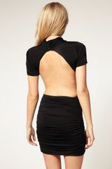 Asos Collection Asos Petite Exclusive Cut Out Slinky Dress in Black - Lyst