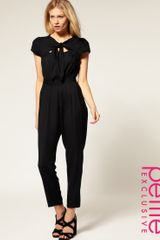 ASOS Collection Asos Petite Exclusive Jumpsuit with Cut Out Back - Lyst