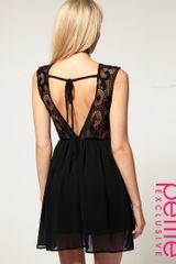 ASOS Collection Asos Petite Exclusive Open Back Lace Mini Dress - Lyst