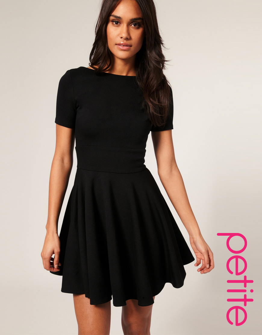 Lyst asos collection asos petite tailored short sleeve for Short flared wedding dress