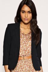 Asos Collection Asos Tailored Cropped Boyfriend Blazer in Black - Lyst